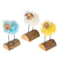 Easter Fun Fluffy Stand Up Lamb White Blue Or Yellow..